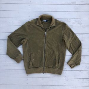 Polo Ralph Lauren Olive zip-up pocket sweatshirt M